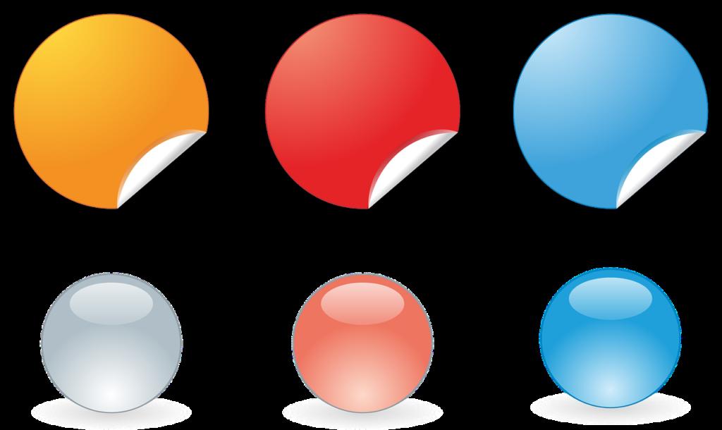 מדבקות בצבעים שונים